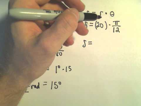 Arc Length Formula - Example 1
