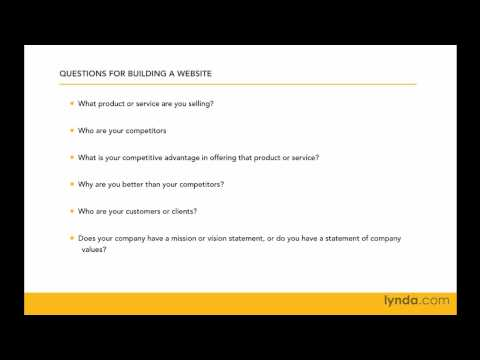 Web site planning: Interviewing the client | lynda.com tutorial