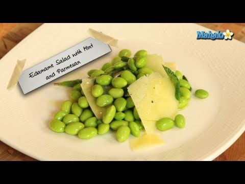 How to Make Edamame Salad With Mint and Parmesan Cheese