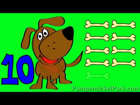Doggy Numbers 6 to 10: Count Dog Bones Numbers 1 to 5 Stories for Children Books Edu Early Learning