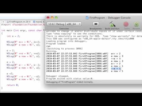 Objective-C Tutorial - Lesson 4: Part 1: Increment & Decrement Operators & Comma Operator
