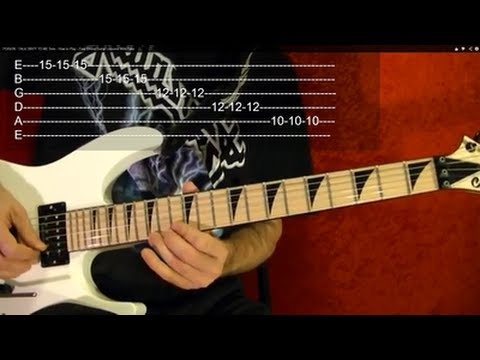 SANITARIUM Intro Solo Guitar Lesson by METALLICA, WITH TABS