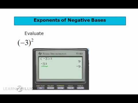 Apply exponents to negative bases - 8.EE.1