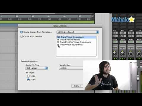 Creating a Template - Pro Tools 9