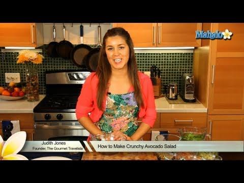 How to Make Crunchy Avocado Salad