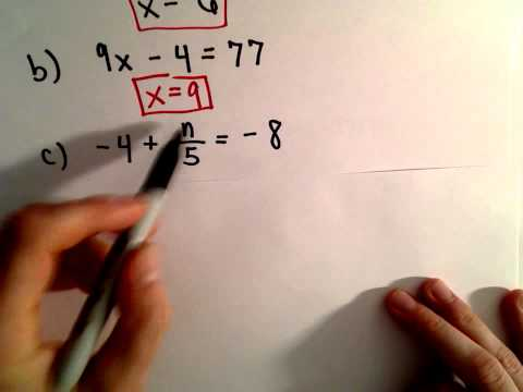 Solving Two - Step Linear Equations ,  Another Example