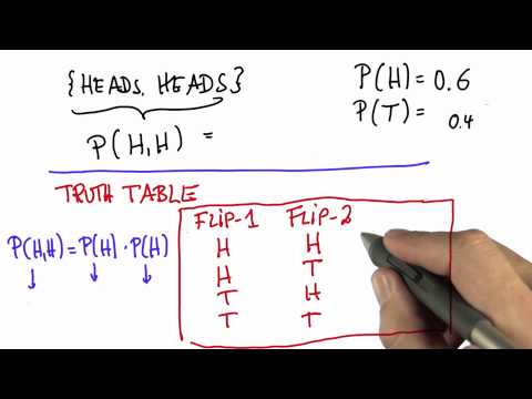 Two Flips 3 - Intro to Statistics - Probability - Udacity