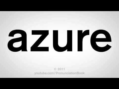 How To Pronounce Azure
