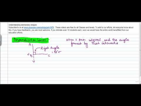 420.$ CBSE Class VI Maths,  ICSE Class VI Maths -  Perpendicular lines