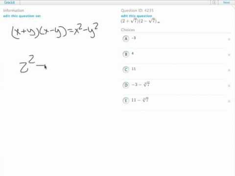 Grockit GMAT Quantitative - Problem Solving: Question 4235