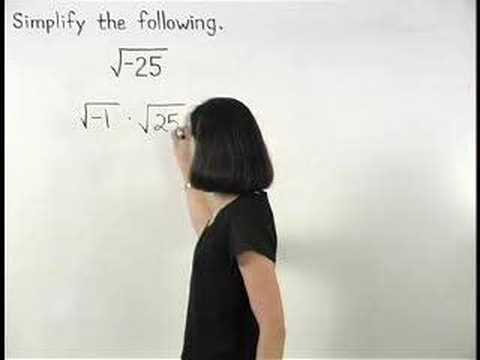 Imaginary Numbers - YourTeacher.com - Algebra 2 Help