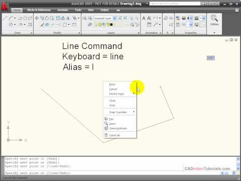 AutoCAD Tutorial - Using the LINE Command
