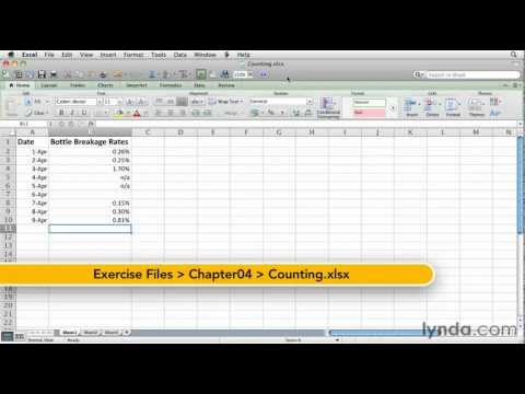 How to use the Excel Count function | lynda.com tutorial