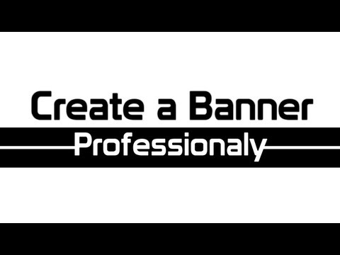How To Make A Banner Using Adobe Fireworks CS3/CS4