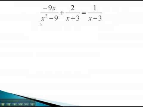 Rational Equations - Factoring Denominator