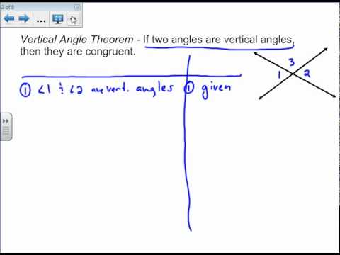 Vertical Angles Proof