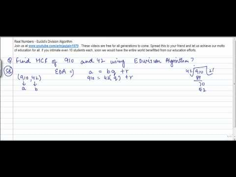 Mathematics - Finding HCF using Euclid's Division Algorithm - Problem 1