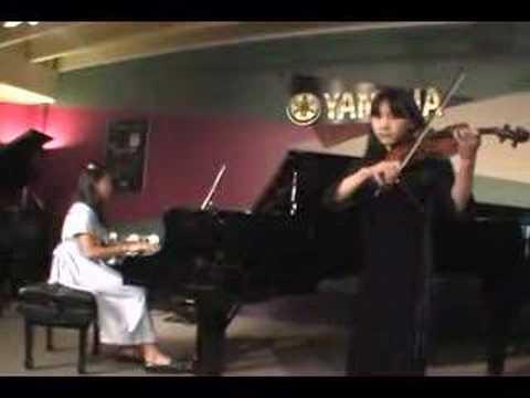 Violin playing at Spring recital
