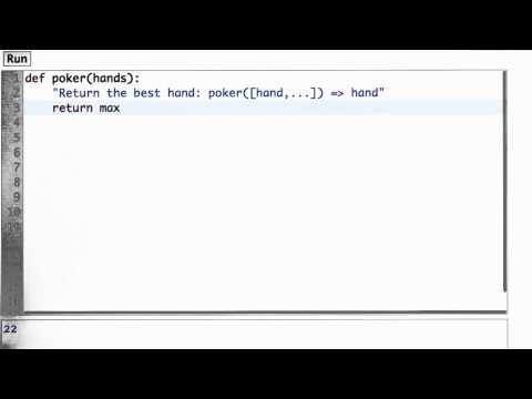 Poker Function Solution - CS212 Unit 1 - Udacity