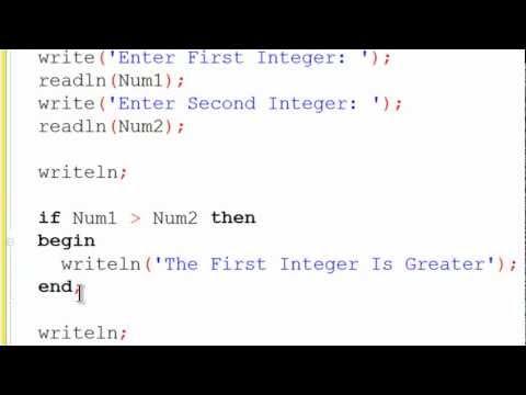 Free Pascal Program Tutorial 5 - If Statements - Lazarus