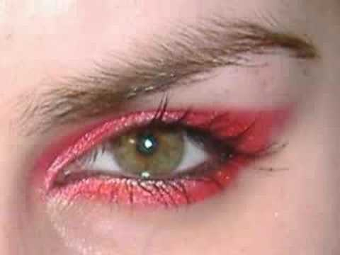 AVRIL LAVIGNE punk emo goth red make up  tutorial inspired look