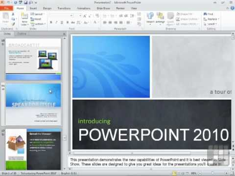 Powerpoint 2010 Tutorial - Using PowerPoint Templates