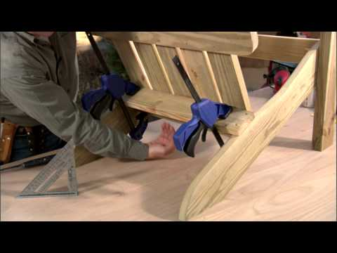 Shop Class Adirondack Chair - Part 3: Attaching the Back and Arms
