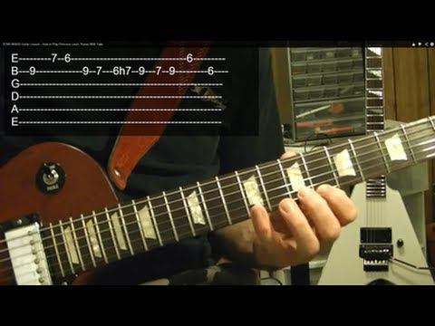 EASY!! STAR WARS ( Guitar Lesson ) Princess Leia's Theme With Tabs