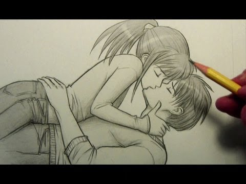 How to Draw People Kissing (Pose)