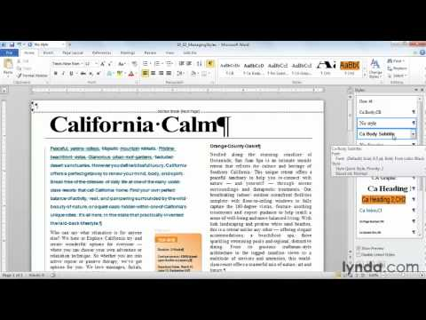 How to manage Microsoft Word styles | lynda.com tutorial