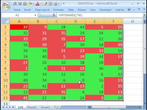 Excel Magic Trick 370: Conditional Formatting Odd & Even Numbers