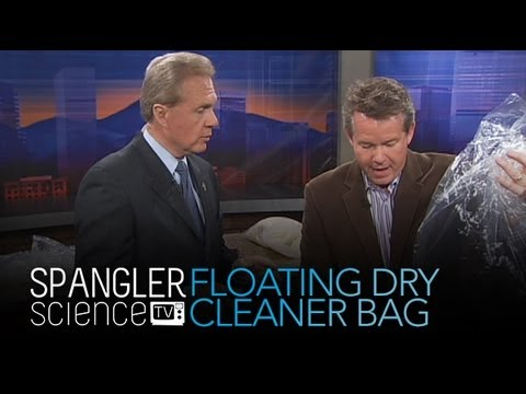 Floating Dry Cleaner Bag - Cool Science Experiment