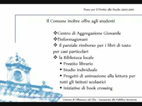piano per il diritto allo studio 2009 2010