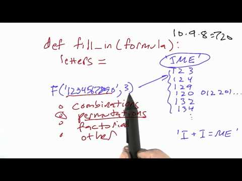 Fill In Function Solution - CS212 Unit 2 - Udacity