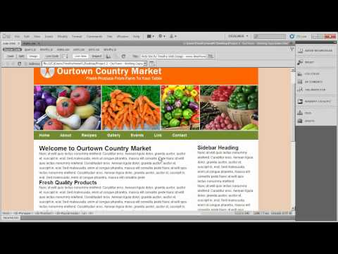 8 - Dreamweaver Project 2 - OurTown Country Market.mp4