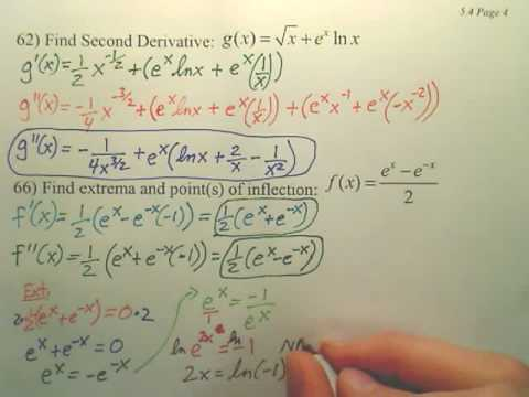 5.4d2 Exponential Differentiation and Integration - Calculus