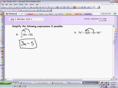 Review Unit 1 Test Problems 711