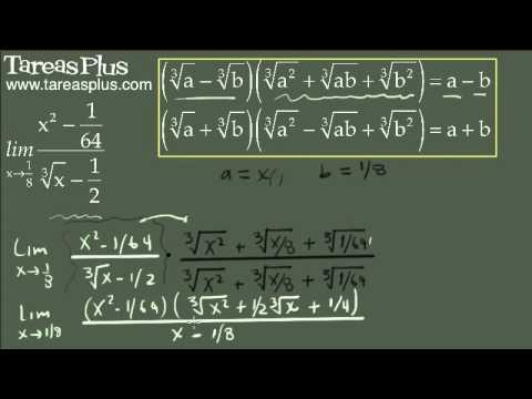 Cálculo de límites indeterminados mediante racionalización 10
