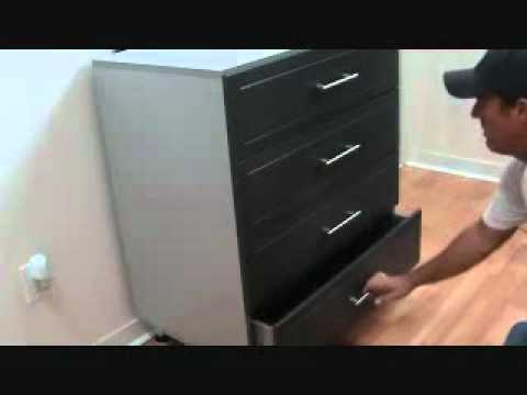 How to adjust a bank of drawers