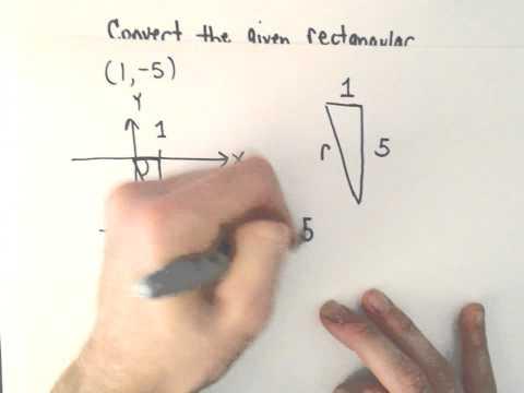 Converting Between Polar and Rectangular (Cartesian) Coordinates, Ex 2