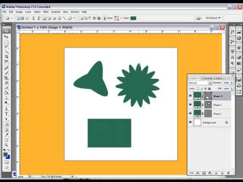 How Too Use The Shape Tool In Photoshop CS3