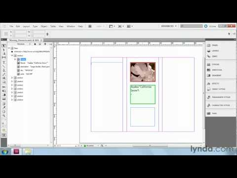 InDesign: Placing XML data into a layout | lynda.com tutorial