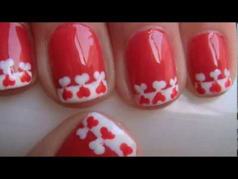 Heart French Tip Nail Design For Short Nails (Valentine's Day Nails)