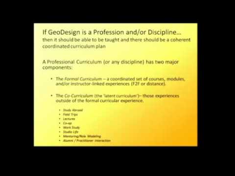 GeoDesign Summit 2010: Ron Stoltz and Karen Hanna: Conceptualizing GeoDesign (Part 1 of 3)