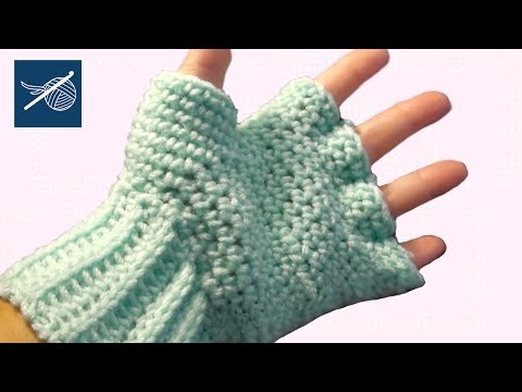 Left Hand Crochet Fingerless Gloves