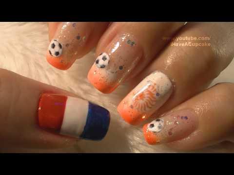 World Cup Netherlands Nail Art Tutorial /  FIFA Mundial Holanda Arte para las unas