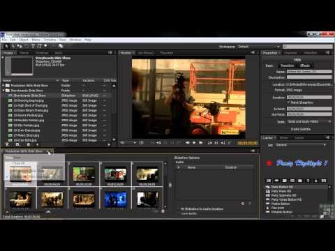 Adobe Encore CS6 Tutorial | Creating And Arranging Slide Shows | InfiniteSkills