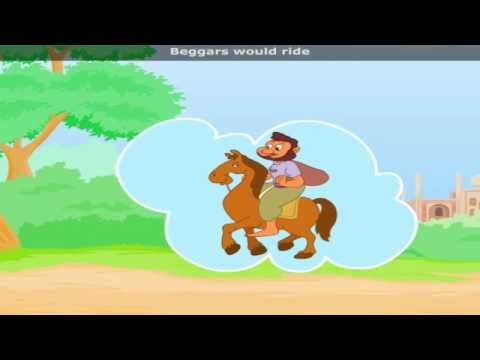 If Wishes Were Horses with Lyrics - Nursery Rhyme