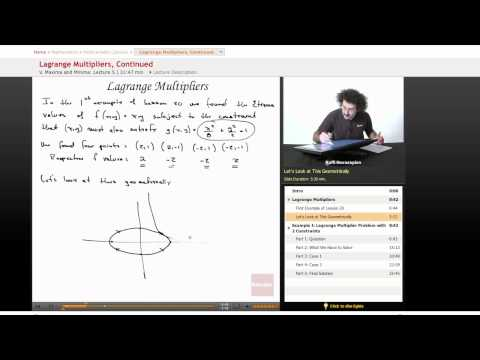 Multivariable Calculus: Lagrange Multipliers, Part 3