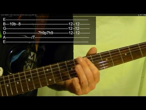 N.I.B. by BLACK SABBATH ( Guitar Lesson) With TABS